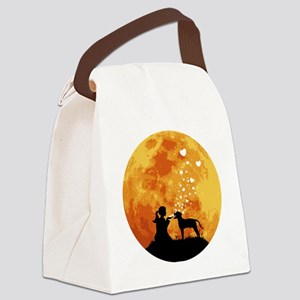 Blackmouth-Cur22 Canvas Lunch Bag