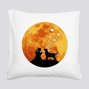 Bloodhound22 Square Canvas Pillow