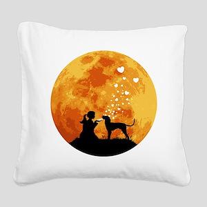 Bluetick-Coonhound22 Square Canvas Pillow
