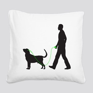 Bloodhound34 Square Canvas Pillow