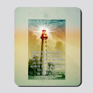 Light of the World (tall) Mousepad