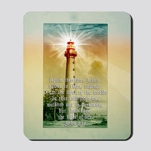 Light of the World (square) Mousepad