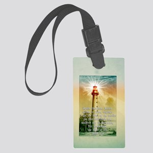Light of the World (tall) Large Luggage Tag