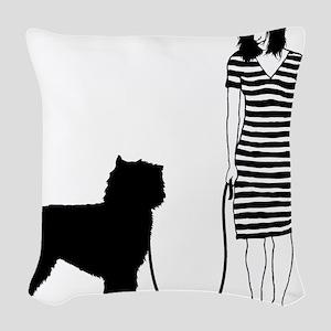 Bouvier-des-Flandres11 Woven Throw Pillow