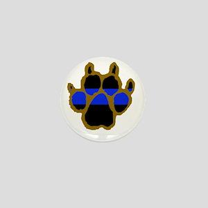 Brown Thin Blue Line Paw Enforcement Mini Button