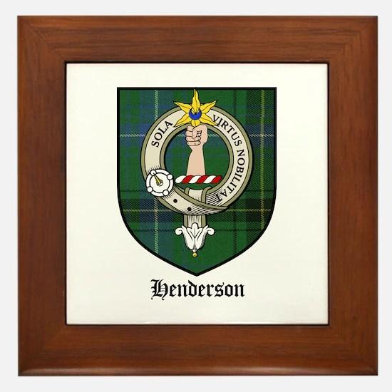 Henderson Clan Crest Tartan Framed Tile