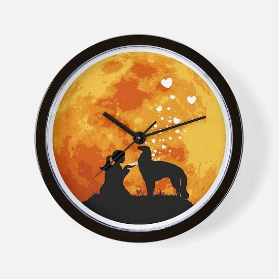 Borzoi22 Wall Clock