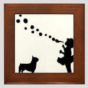 Boston-Terrier28 Framed Tile