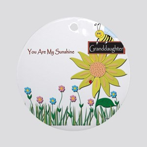 You Are My Sunshine Infant Blanket Round Ornament