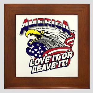 America - Love It or Leave It Framed Tile