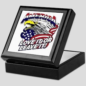America - Love It or Leave It Keepsake Box