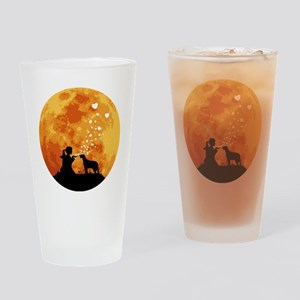 Brittany-Spaniel22 Drinking Glass