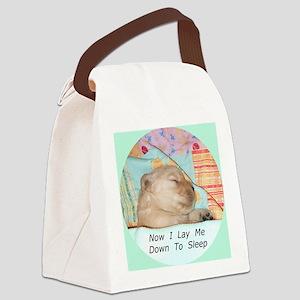 Precious Puppy Sleeping Buttons a Canvas Lunch Bag