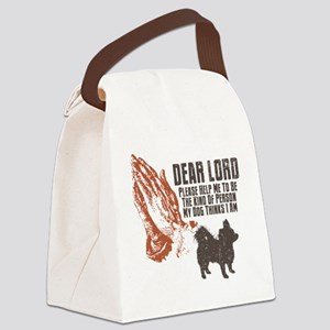 Chihuahua-Longhaired19 Canvas Lunch Bag