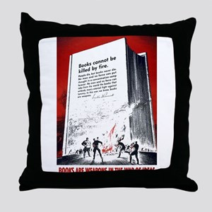 Books Are Weapons Throw Pillow