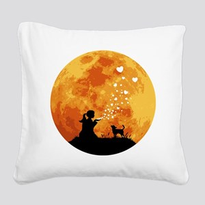 Chihuahua-Smoothcoated22 Square Canvas Pillow
