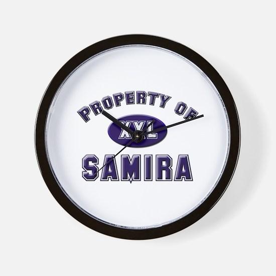 Property of samira Wall Clock