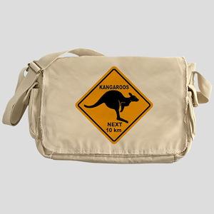 Kangaroo Sign Next Km A2 copy Messenger Bag