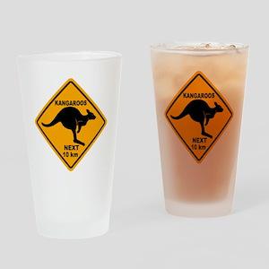 Kangaroo Sign Next Km A2 copy Drinking Glass