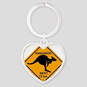 Kangaroo Sign Next Km A2 copy Heart Keychain