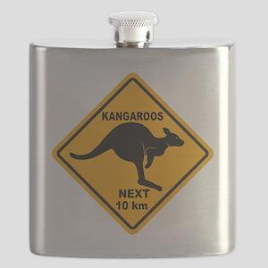 Kangaroo Sign Next Km A2 copy Flask
