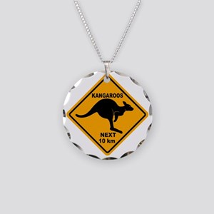 Kangaroo Sign Next Km A2 cop Necklace Circle Charm