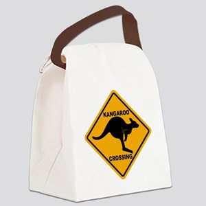 Kangaroo Sign Crossing A3 copy Canvas Lunch Bag