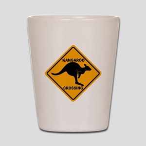 Kangaroo Sign Crossing A3 copy Shot Glass