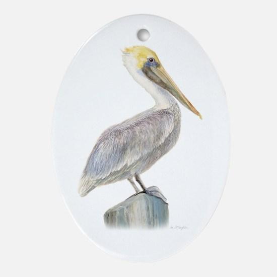 pelican  Oval Ornament