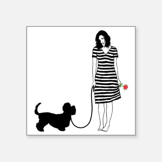 """Dandie-Dinmont-Terrier11 Square Sticker 3"""" x 3"""""""