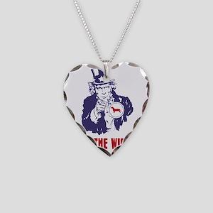 Dachshund18 Necklace Heart Charm