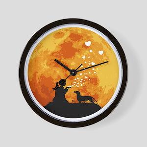 Dachshund22 Wall Clock
