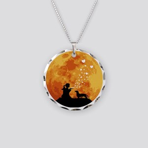 Dachshund22 Necklace Circle Charm