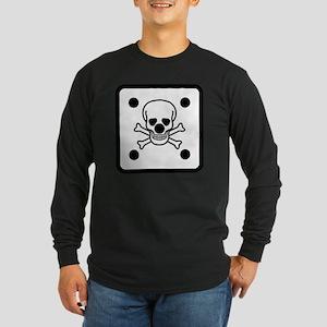 SHIRT_die_skull Long Sleeve Dark T-Shirt