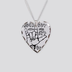 rockout Necklace Heart Charm