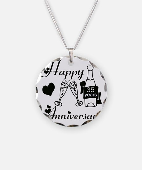 Anniversary black and white  Necklace
