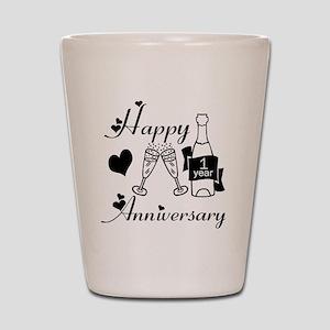 Anniversary black and white 1 copy Shot Glass