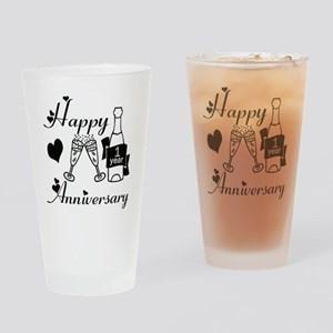 Anniversary black and white 1 copy Drinking Glass