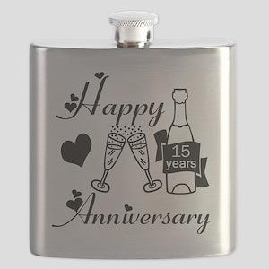 Anniversary black and white 15 Flask