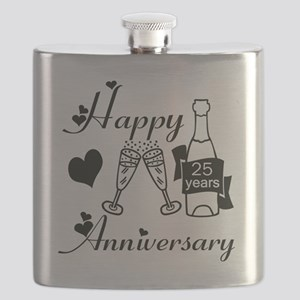 Anniversary black and white 25 Flask