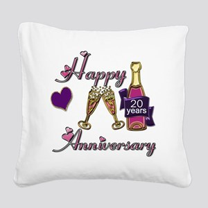 Anniversary pink and purple 2 Square Canvas Pillow