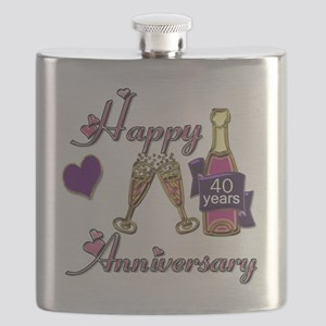 Anniversary pink and purple 40 Flask