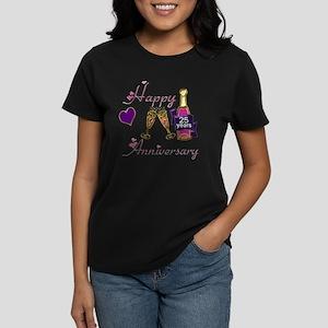 Anniversary pink and purple 2 Women's Dark T-Shirt