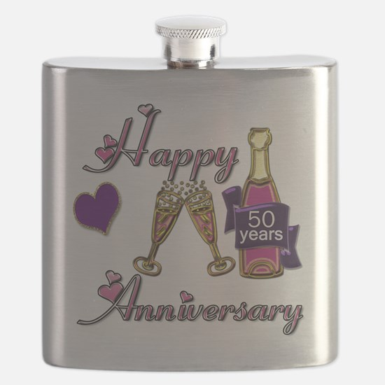 Anniversary pink and purple 50 Flask