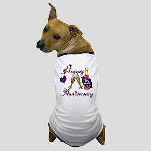 Anniversary pink and purple 45 Dog T-Shirt