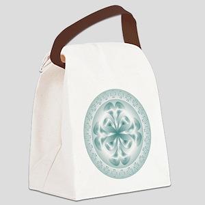 Silver flower copy Canvas Lunch Bag
