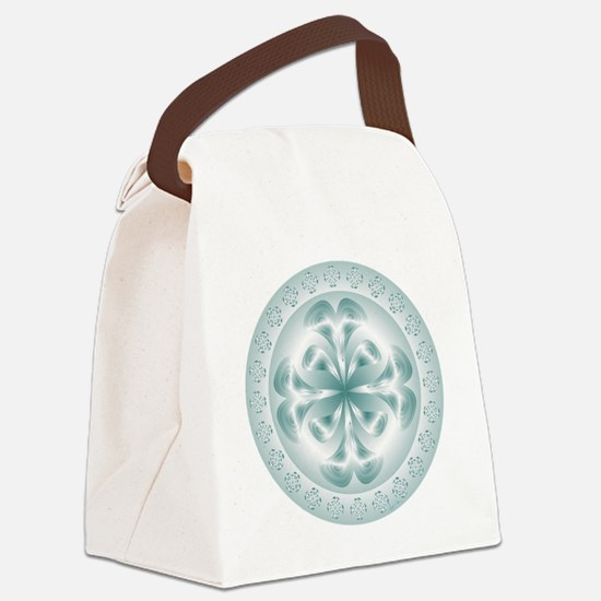 Silver flower copy Canvas Lunch Bag