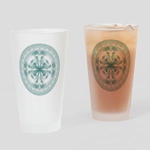 Silver flower copy Drinking Glass