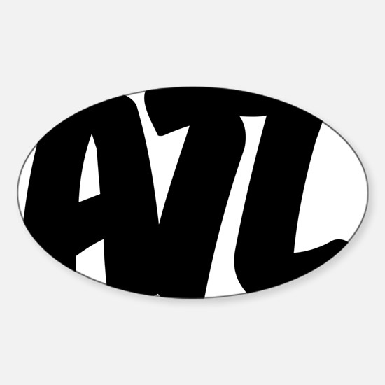 ATL Brushed W Sticker (Oval)