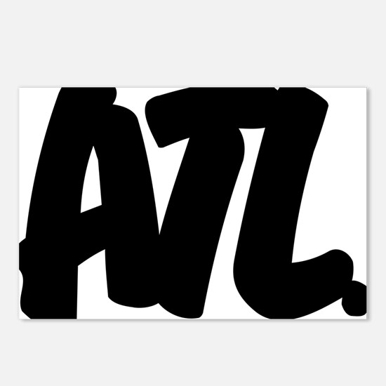 ATL Brushed W Postcards (Package of 8)